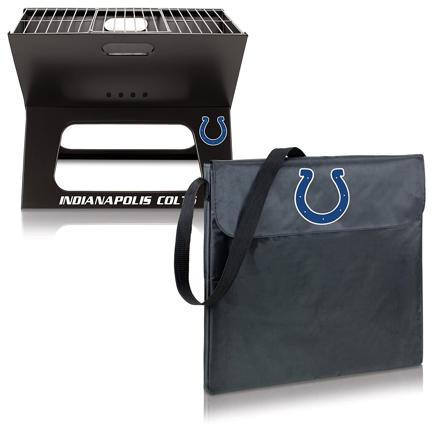 NFL Indianapolis Colts Portable Collapsible Charcoal X-Grill