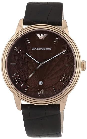 Emporio Armani AR1613 - Reloj (Reloj de pulsera, Masculino, Acero inoxidable, Oro