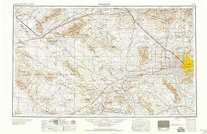 Amazon.com : YellowMaps Phoenix AZ topo map, 1:250000 Scale, 1 X 2 ...