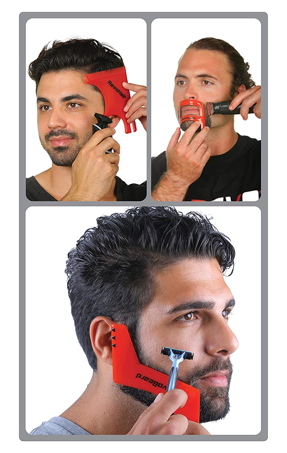 Revo Hair Goatee & Beard Trimmer Template - Mens Grooming Kit – Universal  Size Haircut