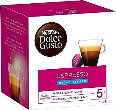 Nescafé Dolce Gusto Espresso Descafeinado - 48 Capsulas (Lot de 3 ...