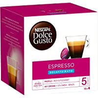 Nescafe Dolce Gusto Espresso Decaf Coffee Capsules (16 Capsules, 16 Cups)