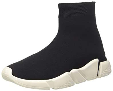Jeffrey Campbell 6-Redman Weave Sock, Baskets Hautes Femme, (Nero Bianco Sole 001), 41 EU