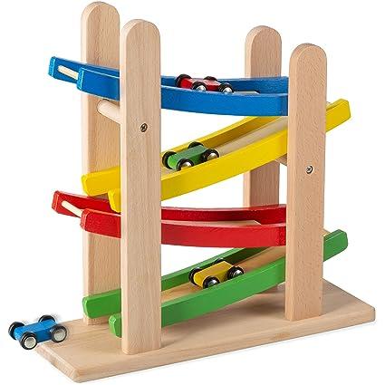 Amazon.com: Coche de madera rampas Race – Rampa 4 Nivel Toy ...