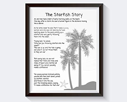 image relating to Starfish Poem Printable titled : MalertaART Starfish Poem through Loren Eiseley The