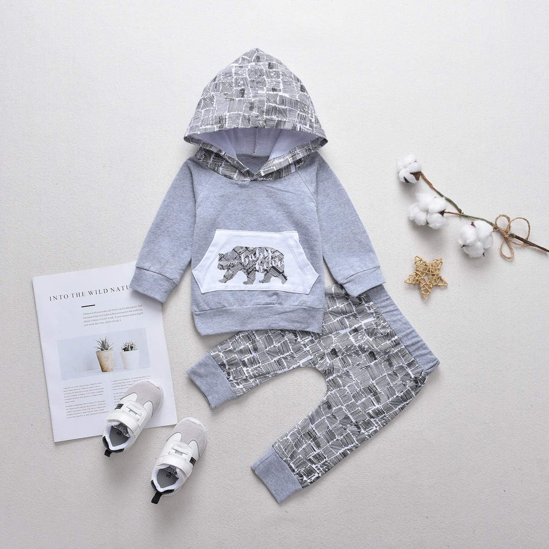 Allence Babykleidung Neugeborene Winter S/äugling Kleinkind Baby Jungen M/ädchen Plaid Pullover mit Kapuze Oberteile Tops