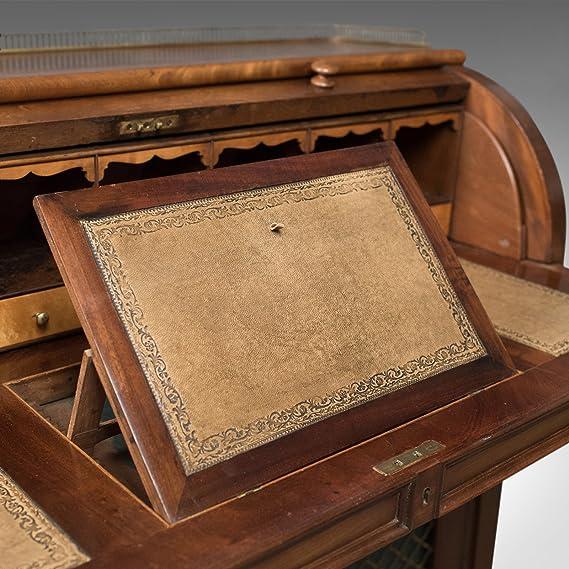 London Fine Antiques Envejecido Cilindro Mesa Escritorio, Estilo ...