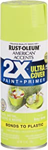 Rust-Oleum 327871 American Accents Spray Paint, 12 oz, Gloss Key Lime, Packaging may Vary