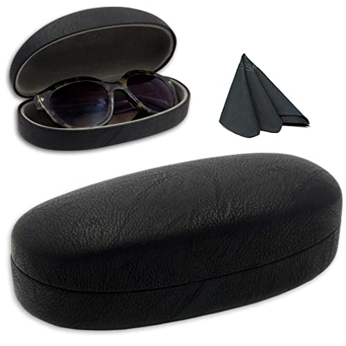 9d74c57bfbd Hard Sunglasses Case w Microfiber Drawstring Pouch   Cleaning Cloth