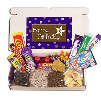 16th Birthday Large Chocolate Gift Box Amazoncouk Grocery