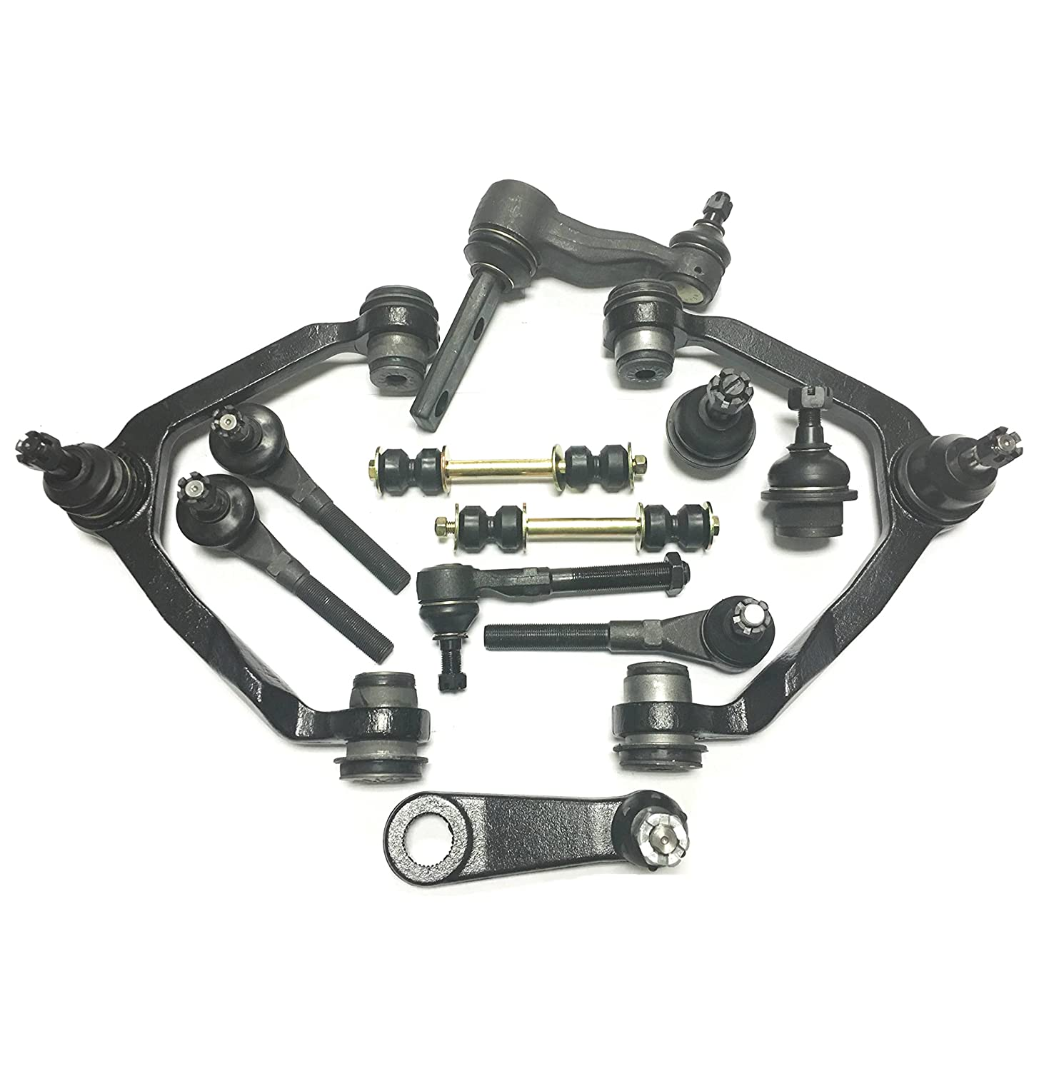 Amazon.com: PartsW 12 Pc Suspension Kit For Ford F-150, Expedition, F-250 &  Lincoln Blackwood Navigator 2 Lower Ball Joints 2 Upper Control Arm with 2  BALL ...