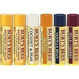 Burt's Bees 100% Natural Moisturizing Lip Balm, Multipack - Original Beeswax, Coconut & Pear, Vanilla Bean, Mango & Wild…