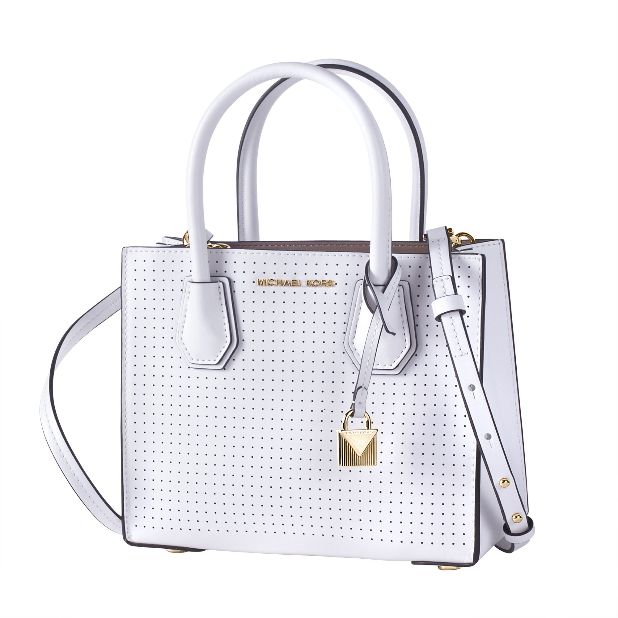 d20b1902c725 Galleon - Michael Kors Mercer Perforated Leather Crossbody 30H7GM9M8X-085