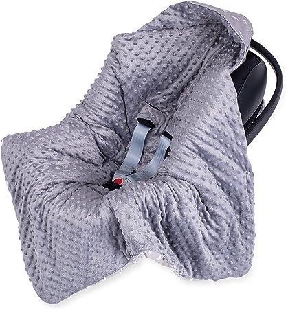 Saco para Capazo invierno, arrullo Bebe - Saco Carro bebé, sacos universal para capazo Cochecito, Manta de Minky gris con estrellas