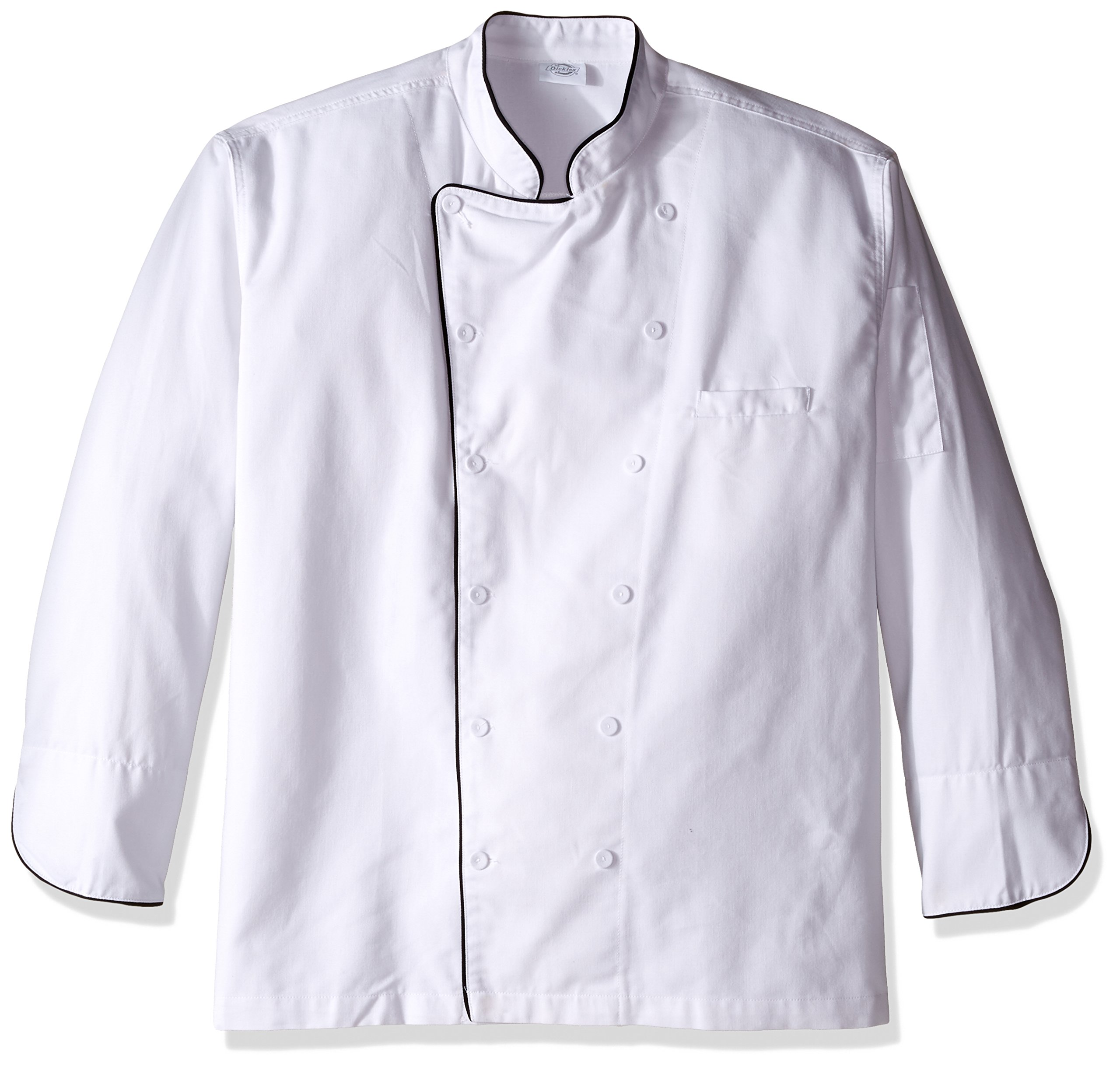 Dickies Chef Executive Coat with Stain Repellent with Piping, White/Black, XXX-Large by Dickies (Image #1)