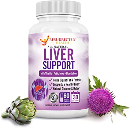 Resurrected Health Liver Cleanse Supplement with Milk Thistle