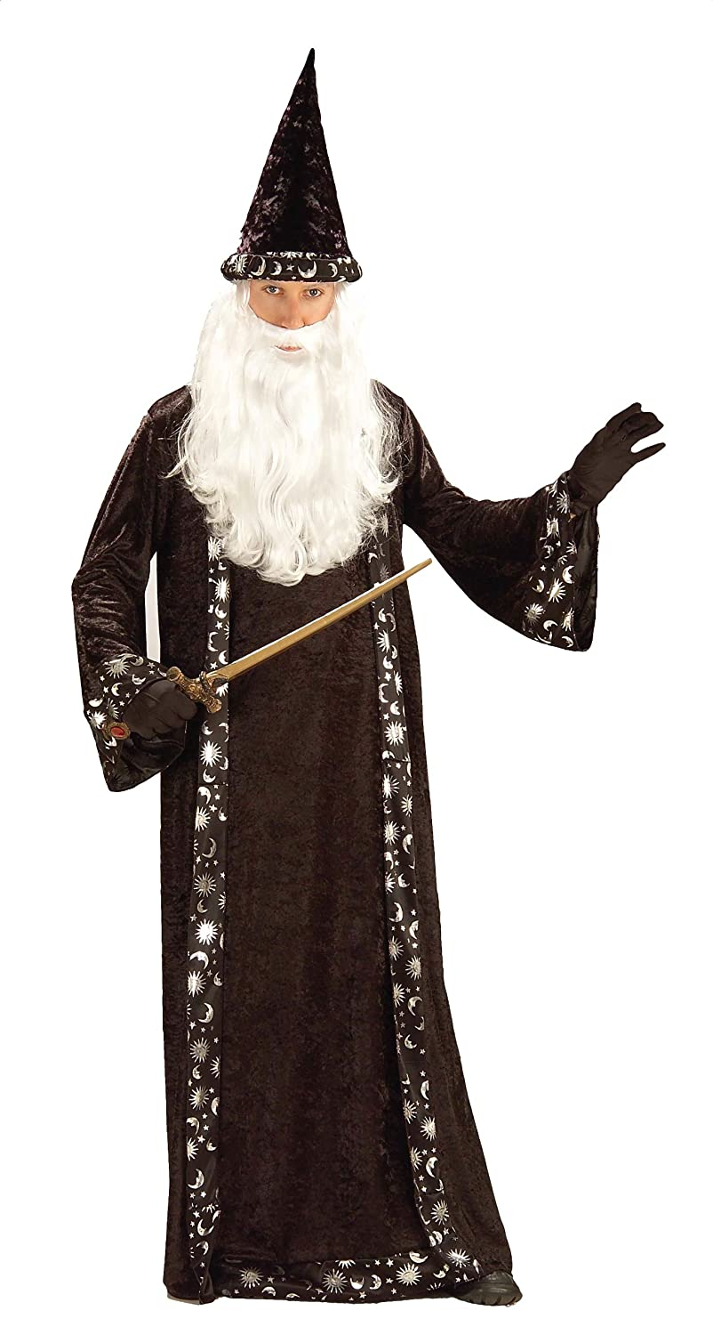 amazon com forum novelties men s mr wizard costume multi one