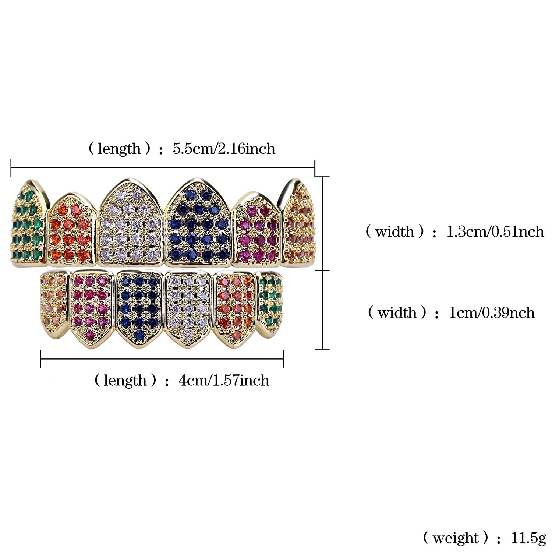 WJMSS Dentaduras postizas Color 6 microcircuitos con ...