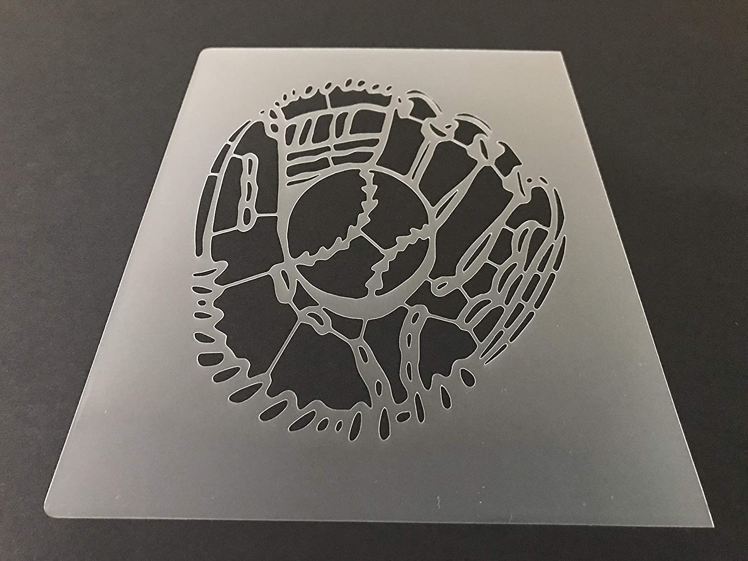 Baseball #13 Stencil Reusable 10 mil Thick 8in x 10.5in sheet