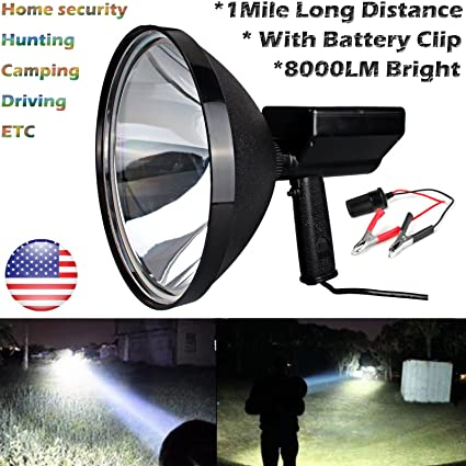 Handheld Spotlight 12V Car HID Fishing Search Light / Hunting Light /  Driving Lamp / Camping