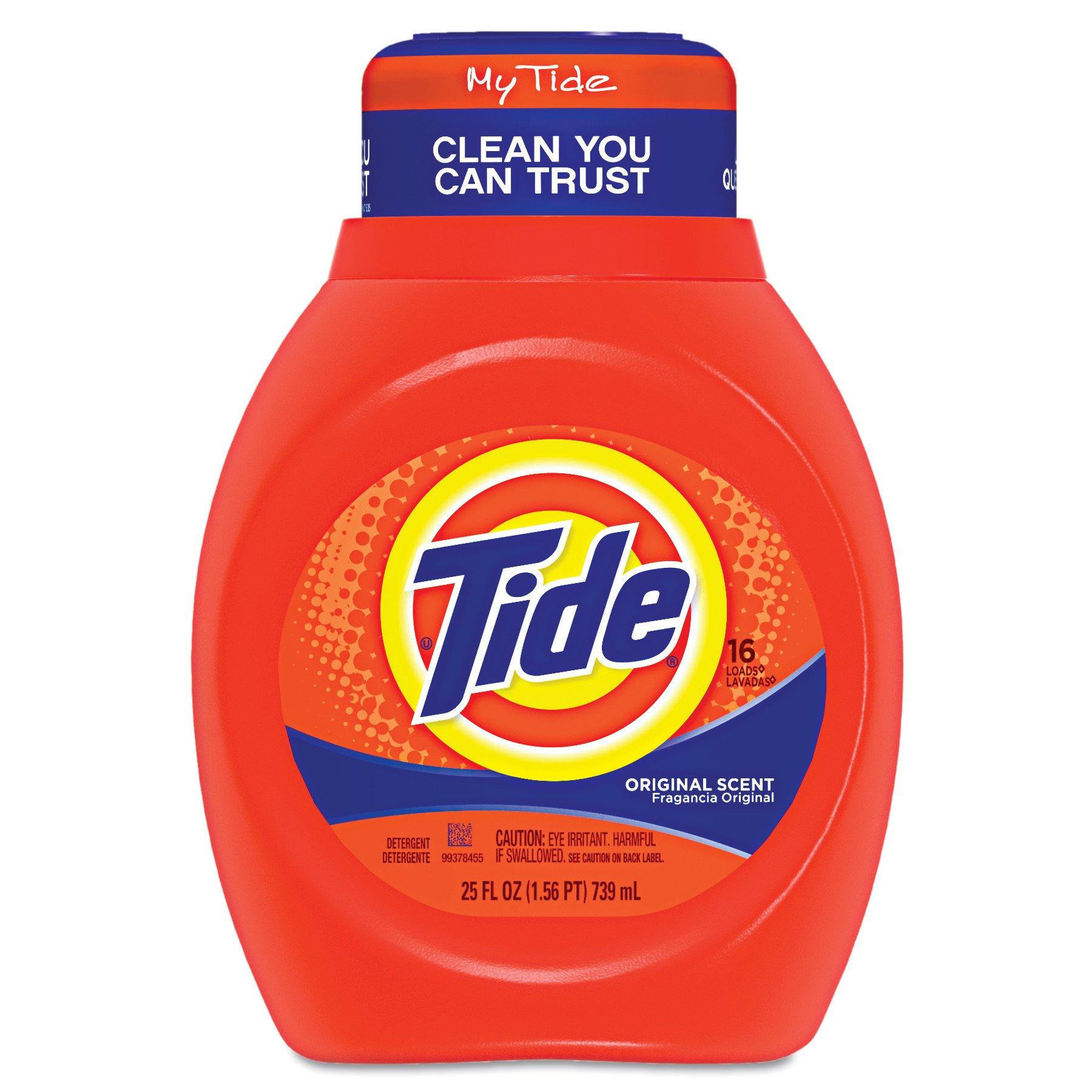 Tide 13875CT Liquid  Laundry Detergent, Original, 25oz Bottle (Case of 6) by Tide