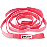 Tumaz Stretch Strap - 10 Loops & Non-Elastic Band - The Perfect Home Workout Stretching Strap for PT(Physical Therapy…