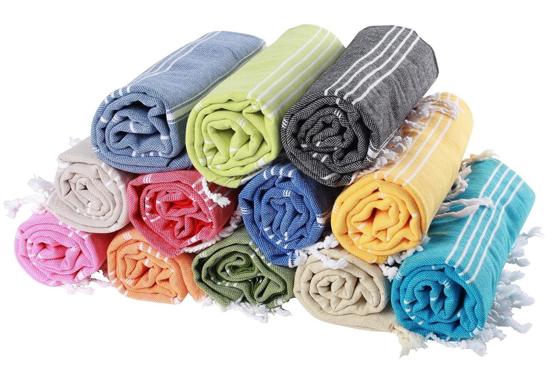 (30colori) Hamam panno pestemal 100% cotone 100x 180cm, Pest mal | Sauna panno | | Telo da spiaggia asciugamano | | Backpacker | Fouta | Sauna | Telo da spiaggia, Senza ricami, Pink, 100 x 180 cm Pestemal.de