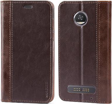 Mulbess Funda Motorola Moto Z2 Play [Libro Caso Cubierta] Billetera Cuero Carcasa para Motorola Moto Z2 Play Case, Vintage Marrón: Amazon.es: Electrónica
