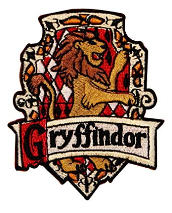Harry Potter House Logos Coloring Pages. Harry Potter House of GRYFFINDOR Crest PATCH Amazon com  Clothing