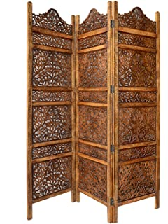 Amazoncom Ghanti Bells Antique Brown 4 Panel Handcrafted Wood