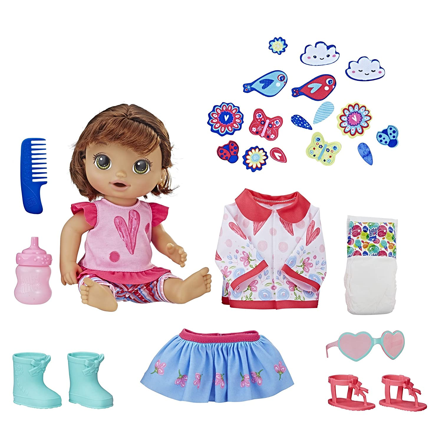 BABY ALIVE So Many Styles Baby (Brown Straight Hair) - TOY - TAX FREE