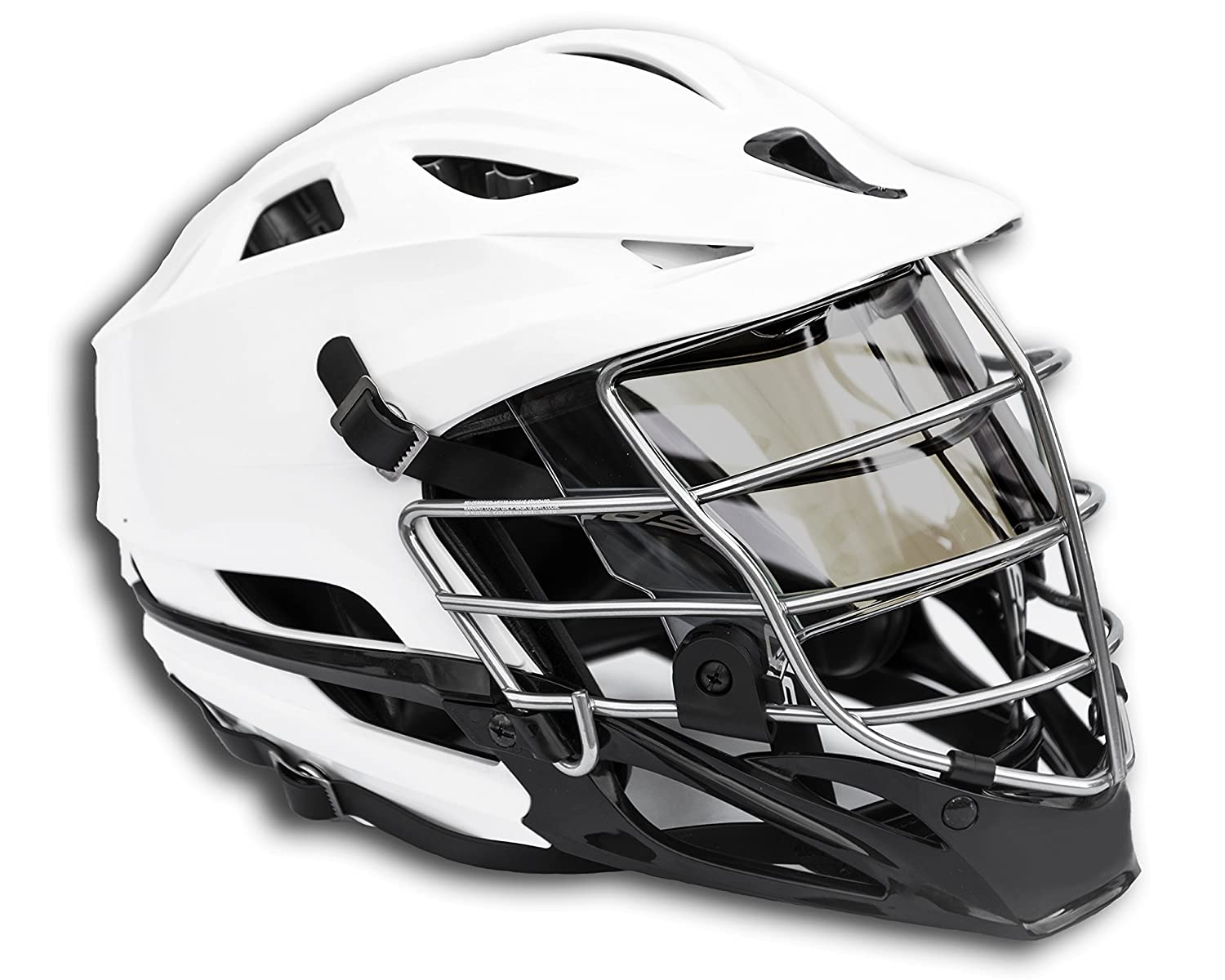 d559a4a69a4 Amazon.com   EliteTek LAX Lacrosse Color Visor Eye Shield fits Cascade  Helmets (Black Gold Smoked