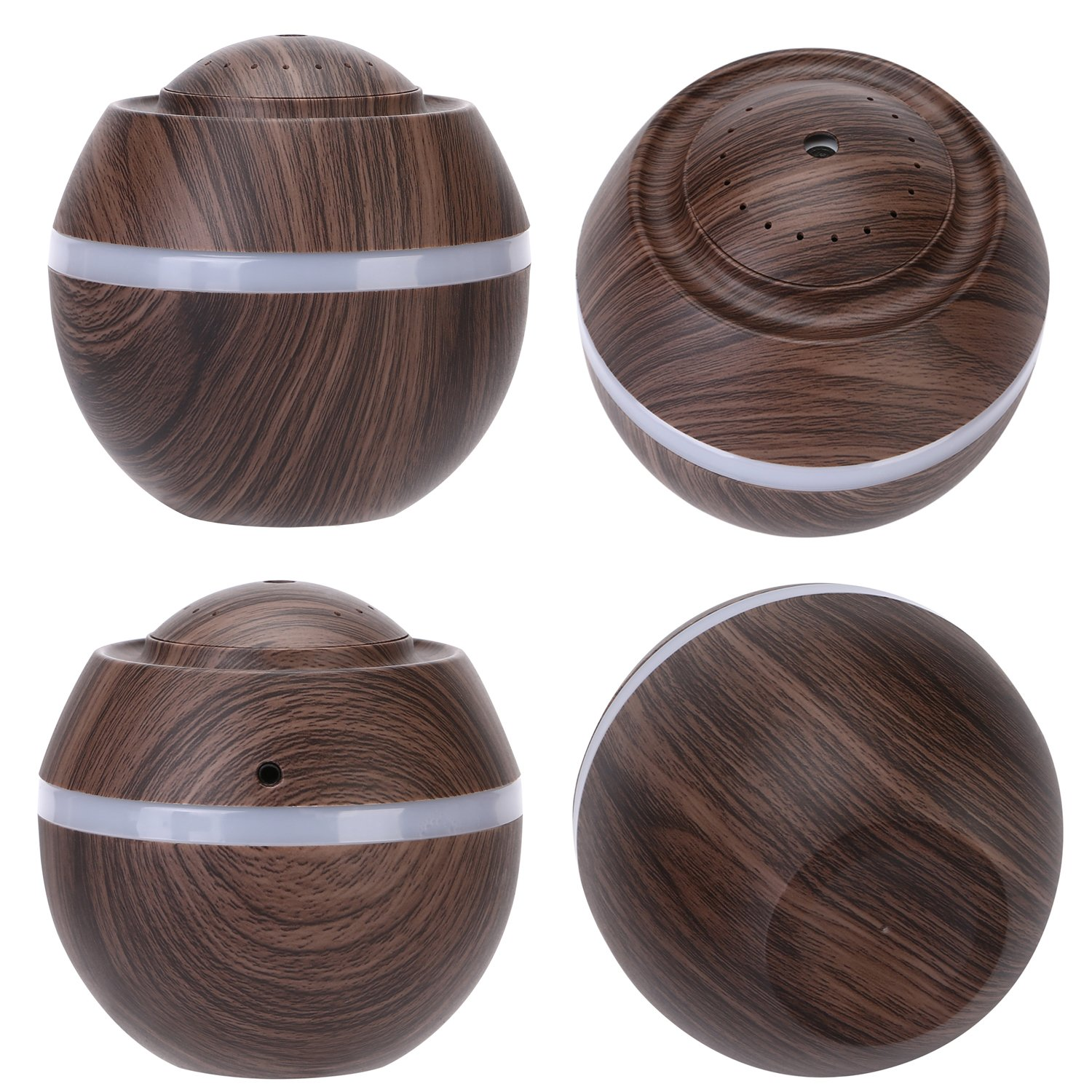 Cool Mist Humidifier Ultrasonic Aroma Essential Oil Diffuser for Office Home Bedroom Living Room Study Yoga Spa - Wood Grain (Brown) by O'abazar (Image #4)