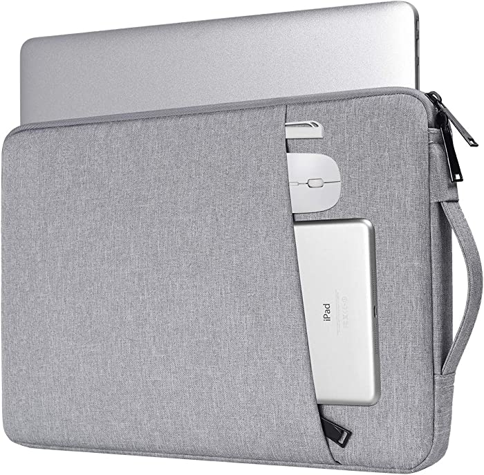 15.6 Inch Laptop Case, Notebook Chromebook Sleeve for Lenovo IdeaPad 15.6/Lenovo ThinkPad 15.6, LG Gram 17,HP Pavilion 15.6/Envy x360/Dell Inspiron 15 5000/Asus TUF 15.6/MSI GL63(Light Grey)