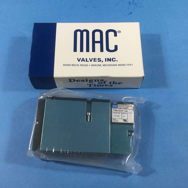 Non-Locking RECESSED MAC VALVES INC 92B-AAB-000-DM-DDAP-1DM Solenoid Valve Single Operator 24 VDC MUFFLED Pilot Exhaust Series 92 5//2-WAY Light ON Body 5.4 WATT 20-120 PSI
