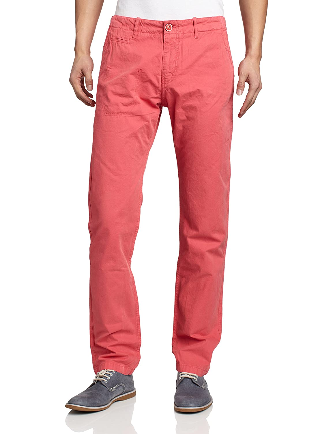 Desigual Men's Trousers Red sanft rot