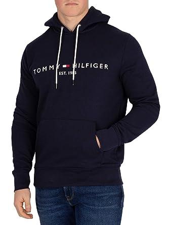 c7fdf3761ee8fa Tommy Hilfiger Herren Trikot Logo Hoodie Blau: Amazon.de: Bekleidung