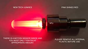 New Tech Junkies NTJ (4 Pack) LED Motion Activated Bike Bicycle Wheel Valve Stem Cap Tire Light