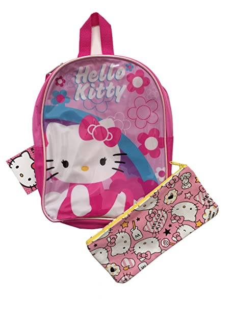 230f48a39513 Image Unavailable. Image not available for. Color  Hello Kitty Kids Toddler  Girls Pink Mini Backpack ...