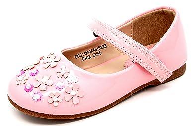d0b5af1e214d5 Buckle My Shoe Infants Girls Faber Flower/Pearl Trim Party ...