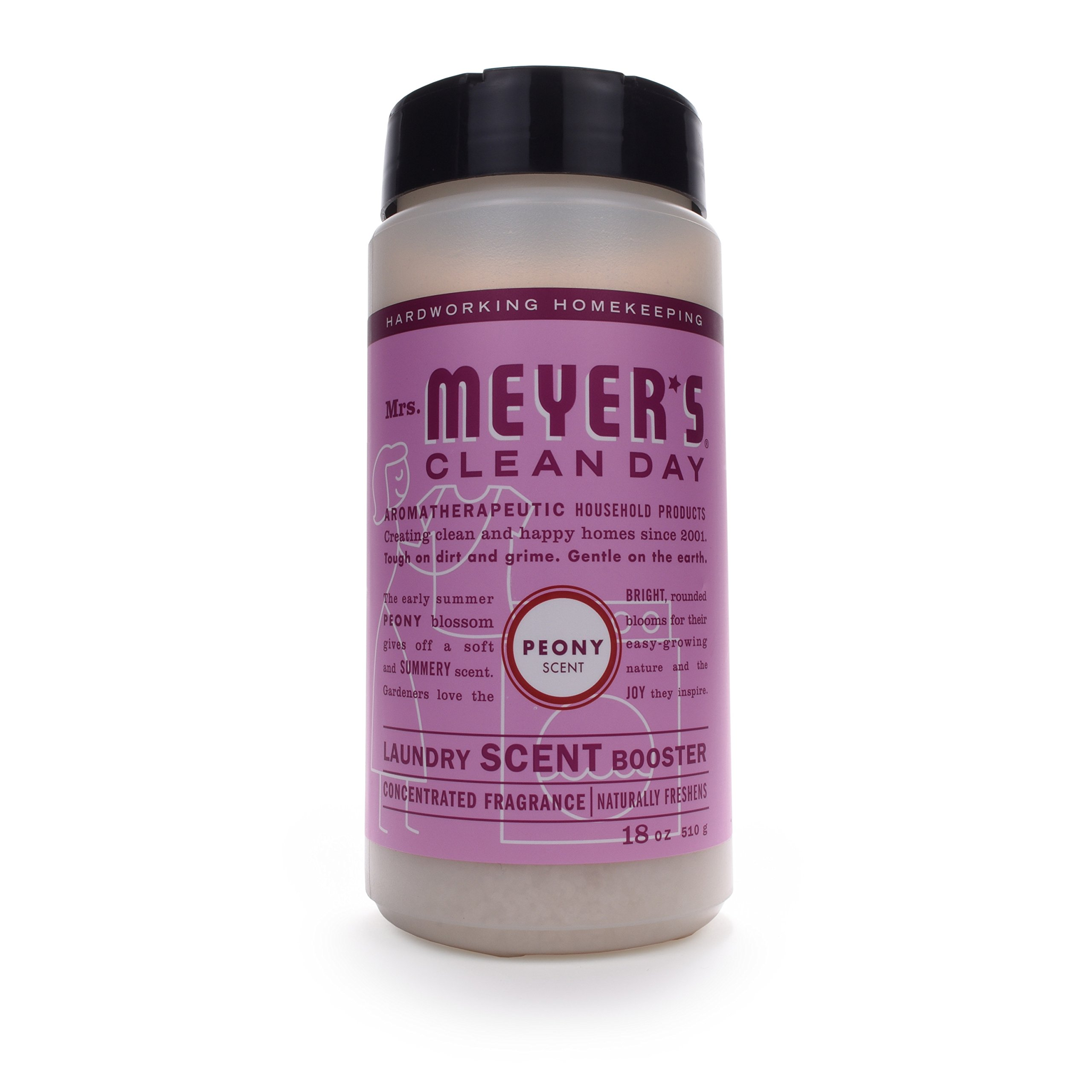 MRS MEYERS Clean Day Laundry Scent Booster, Peony, 18.0 Ounce