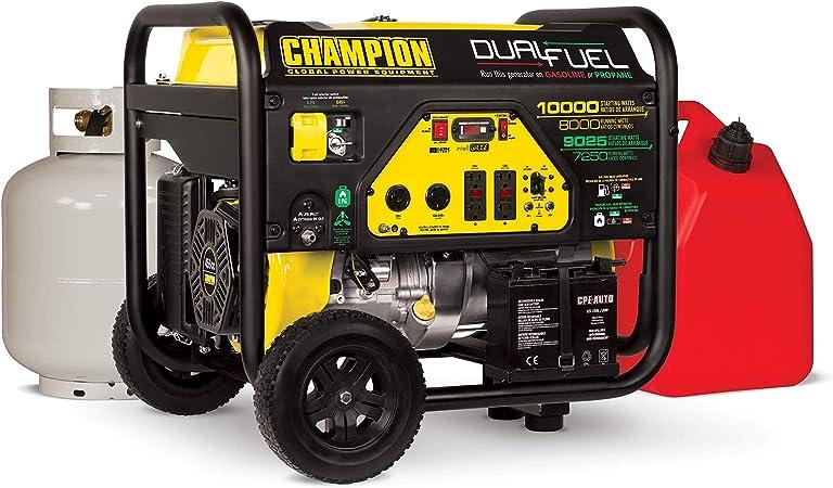 Amazon.com : Champion 8000-Watt Dual Fuel Portable Generator with Electric  Start : Garden & OutdoorAmazon.com