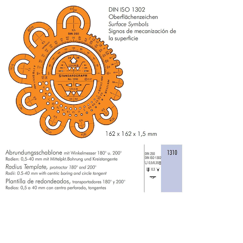 Standardgraph - Plantilla de radio: Amazon.es: Oficina y papelería