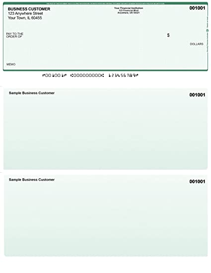photograph regarding Printable Checks for Quickbooks named Eco-friendly Basic safety Pc Exams - 50 Revealed Laser Personal computer Voucher Exams - Appropriate for Quickbooks