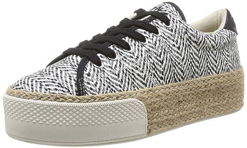 No Name Sunset - Zapatillas de Deporte de Canvas para Mujer Gris Gris (Grey/Fox/Rope) 37: Amazon.es: Zapatos y complementos