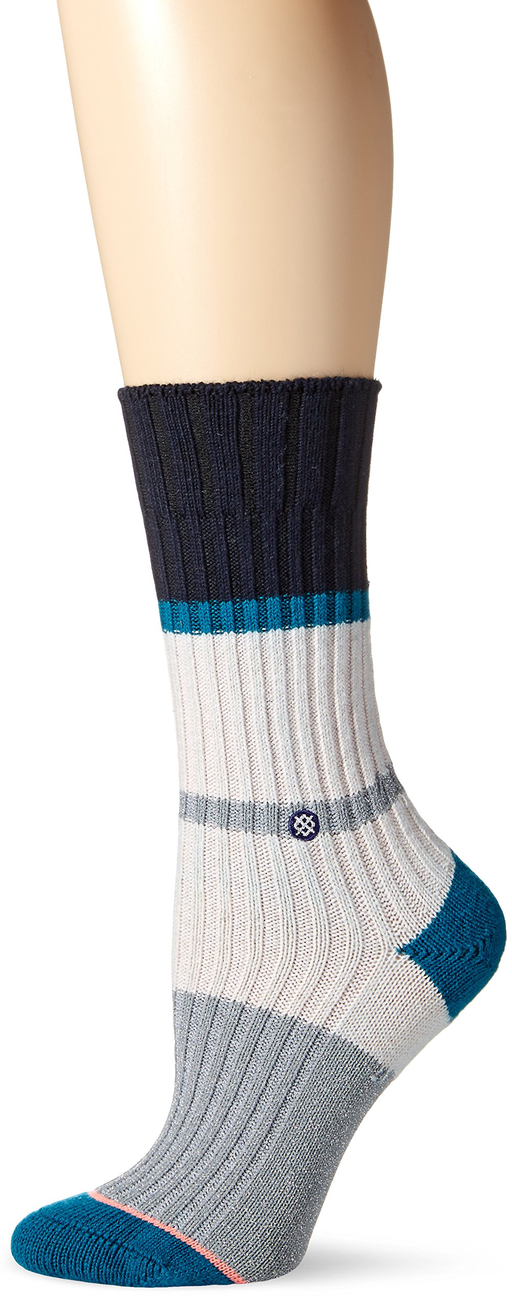 Stance Women's Silverlined Boot Sock, Off White, One Size