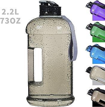 Amazon.com: Botella de agua reutilizable grande de 2,2 l ...