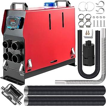 Vevor 12v Air Diesel Heizung 5kw Diesel Lufterhitzer Diesel Lufterhitzer 4 Löcher Luft Dieselheizung Air Diesel Heizung Air Standheizung Lcd Monitor Planare Fernbedienung Für Lkw Boote Auto Auto