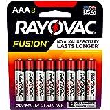 RAYOVAC AAA 8-Pack FUSION Premium Alkaline Batteries, 824-8TFUSK