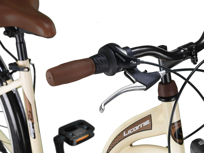 Bicicleta holandesa Stella Bike hombre y mujer Bicicleta para ni/ña ni/ño Cambio Shimano de 21 velocidades Licorne Bike Premium City Bike de 24,26 y 28 pulgadas